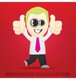 Cartoon Business Character vector image vector image