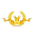 Vintage emblem gold vector image vector image