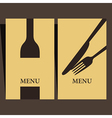 Wine list and menu design vector image