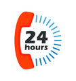 24 hours open phone vector image