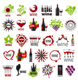 biggest collection of logos wine vector image