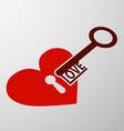 keyhole and key vector image