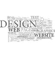 A beginners guide to web page design text word vector image