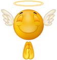 Angel emoticon vector image
