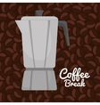 coffee maker vintage graphic vector image