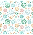 Colorful molecules seamless pattern background vector image