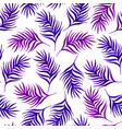 floral seamless pattern with purple leaves on vector image