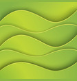 green abstract background made of paper vector image