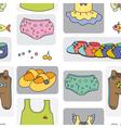 kidswear pattern background vector image