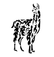 Lama drawing for coloring vector image
