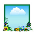 pansies and sky vector image