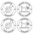 Set of knitting and sewing logos vector image