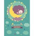 Sweet newborn baby vector image
