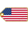 Vintage label with the flag of USA vector image