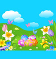 easter meadow vector image vector image