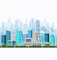 business smart city with large modern buildings vector image