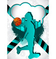 basketball summer background vector image vector image