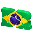 internet top-level domain of brazil vector image