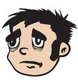 sad boy vector image vector image