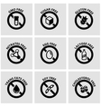 black food dietary labels icon set vector image