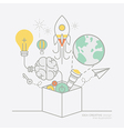 business plan idea concept outline icons vector image