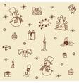 Christmas set seamless vector image
