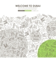 Dubai Doodle Website Template Design vector image