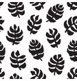 hand-drawn seamless pattern with floral design vector image