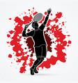 man tennis player sport man pose serve vector image