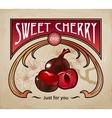 Sweet dessert of chocolate vector image