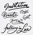 invitation and event hand written typography vector image