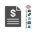 price list flat icon with free bonus elements vector image
