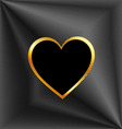 Heart shaped text box vector image