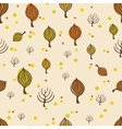 Autumn trees pattern vector image vector image