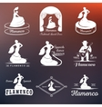 Set Logos and Badges Flamenco vector image