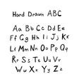 Hand drawn abc vector image