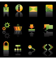 web site and computer icons vector image vector image
