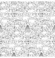 Hand drawn Europe seamless pattern vector image