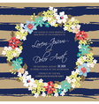 wedding invitation card with wreath vector image vector image