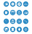Icons types of printing printing icon vector image