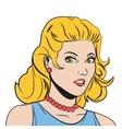 blonde woman portrait vector image
