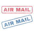 air mail textile stamps vector image