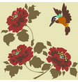 asian wallpaper with flowers and birds seamless vector image