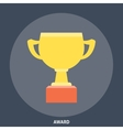 Award Cup Icon Flat vector image