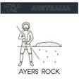 Ayers rock Australia vector image