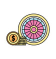 casino roulette isolated icon vector image