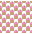 cupcake pattern pink background vector image