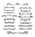 flourishes vintage ornamental borders and vector image