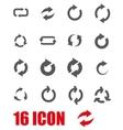 grey refresh icon set vector image