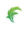 leaf eco nature sign logo vector image